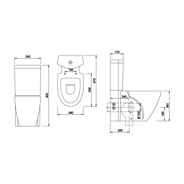 Pack wc design for Wc gain de place villeroy et boch