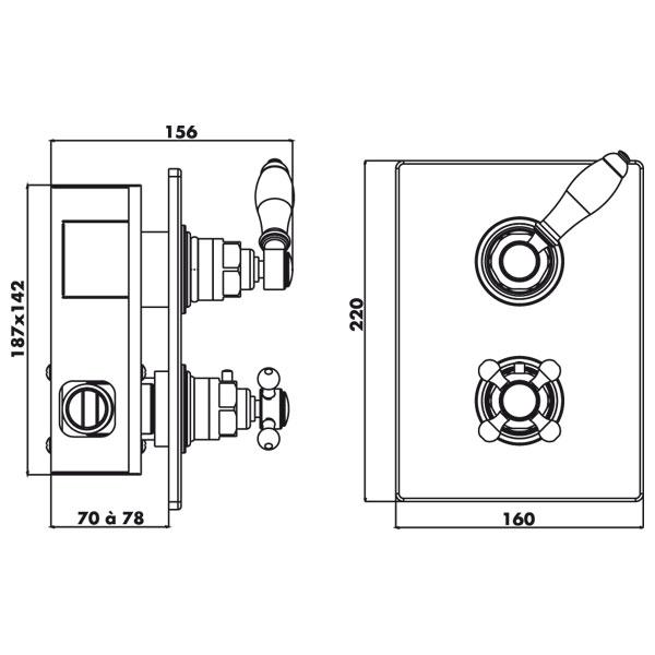 robinet thermostatique de douche encastrer bastide. Black Bedroom Furniture Sets. Home Design Ideas
