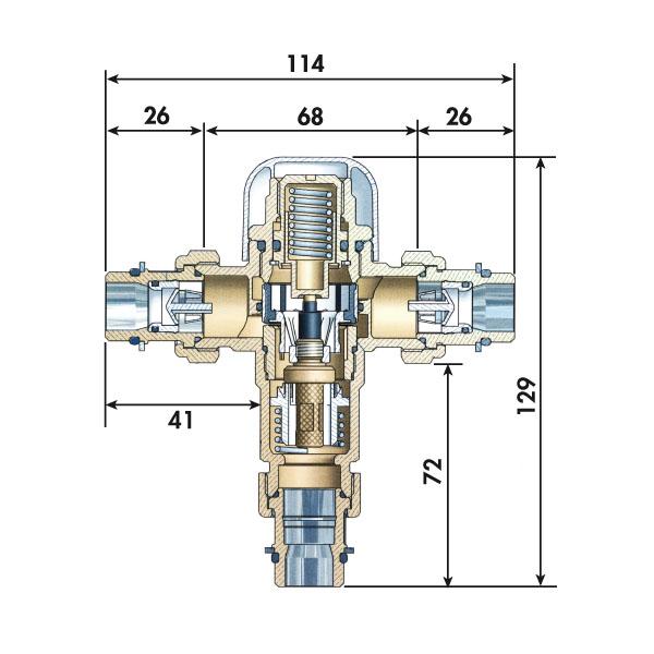 Limiteur de s curit thermostatique r glable 15 21 - Fonctionnement robinet thermostatique douche ...