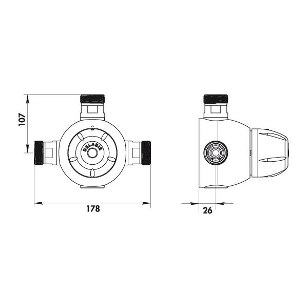 Robinet mitigeur thermostatique collectif premix confort for Evacuation robinet exterieur