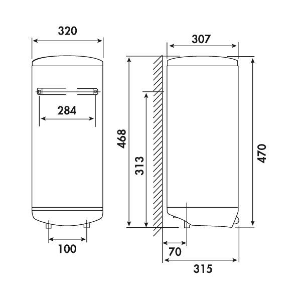 chauffe eau electrique 15l thermostat de securite ariston l sous vier plomberie sanitaire. Black Bedroom Furniture Sets. Home Design Ideas
