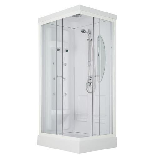 Cabine de douche hydromassante leda odyss e 100x80 cm leda - Cabine douche rectangulaire ...