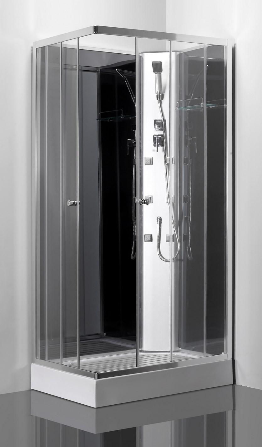 Cabine de douche int grale luna 100x70 cm non visible - Cabine douche integrale ...