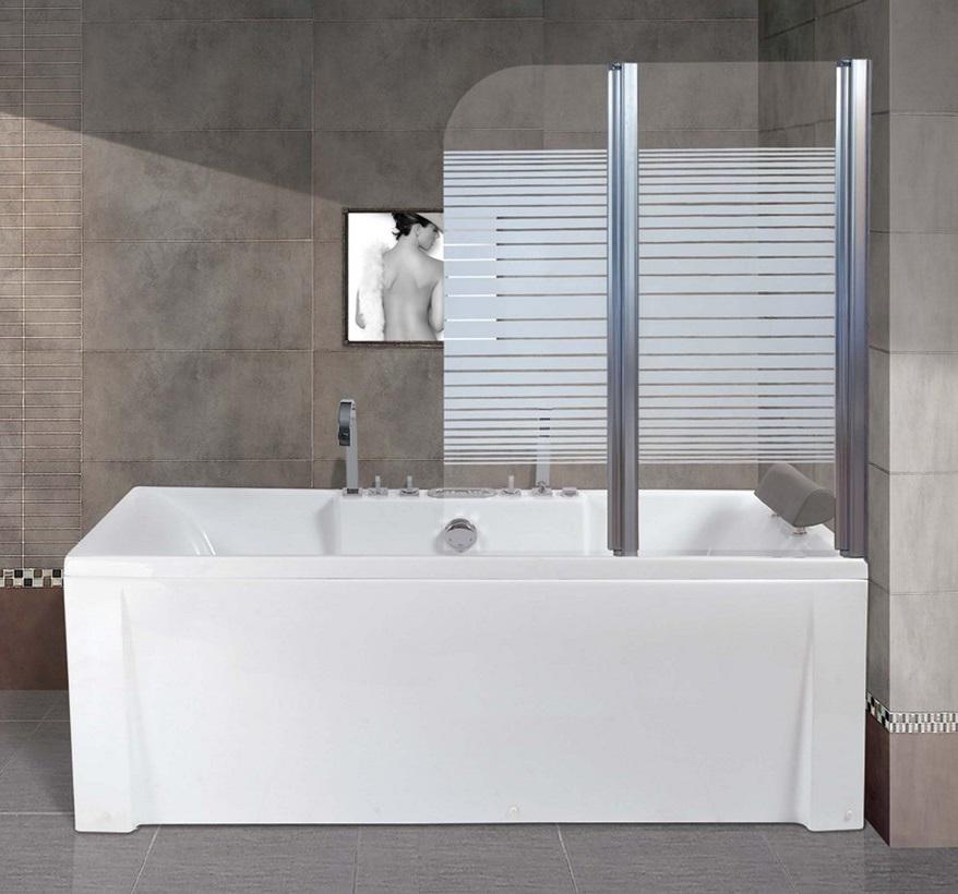 pare baignoire 2 panneaux oasi sydney droit chrom. Black Bedroom Furniture Sets. Home Design Ideas