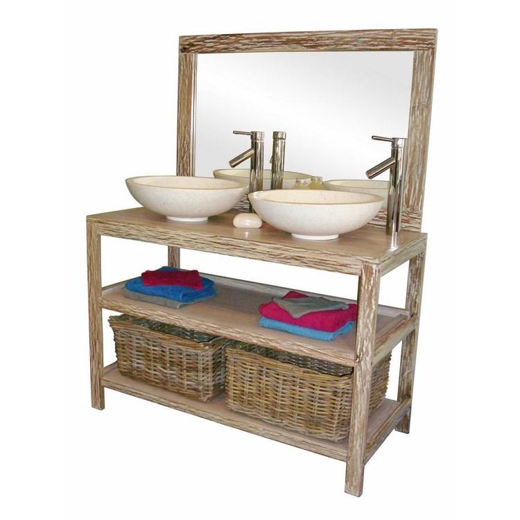 Miroir rotin pas cher comparer les prix avec for Meuble largeur 110