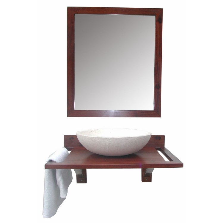 Ensemble meuble denia denith 70 cm miroir tablette for Meuble 70 cm largeur