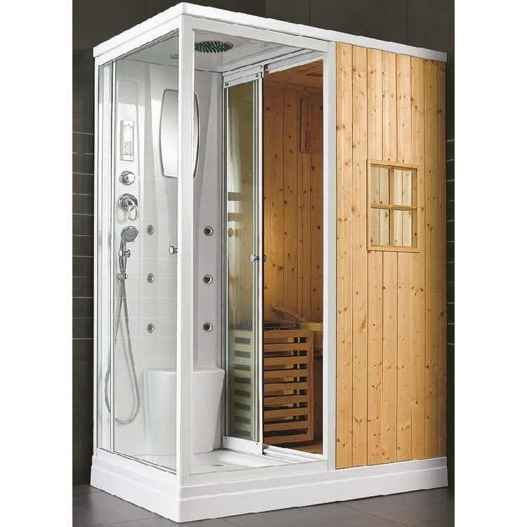 cabine de douche sauna maison design. Black Bedroom Furniture Sets. Home Design Ideas