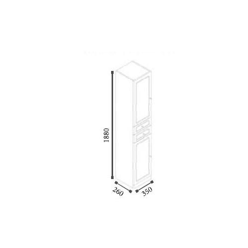 Meuble colonne majorca 188 cm for Meuble majorca 110