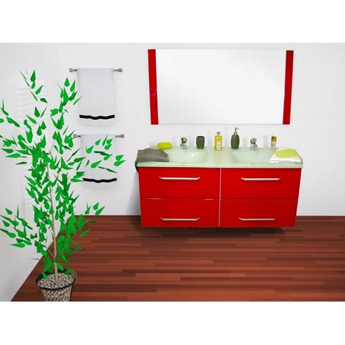 Meuble QUITO 120cm rouge