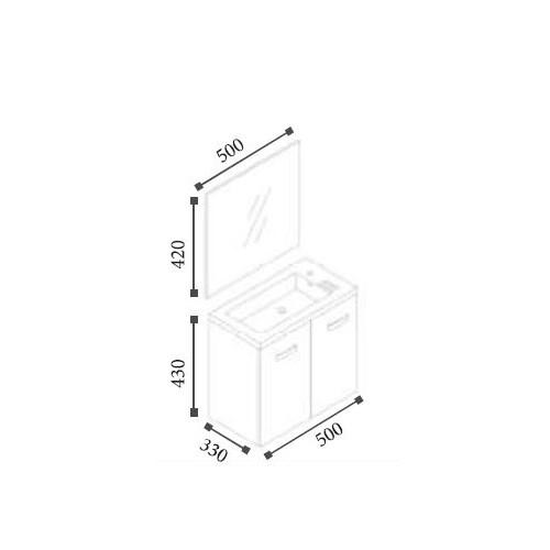 meuble epice blanc 50 cm. Black Bedroom Furniture Sets. Home Design Ideas