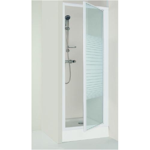 Porte de douche fd80sp 80x185 cm lt aqua for Porte douche pivotant