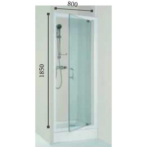 Porte de douche wfd80tp 80x185 cm lt aqua - Porte douche pivotant ...