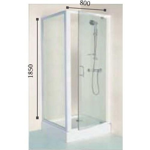 Porte de douche wad80tp 80x185 cm lt aqua for Porte douche pivotant