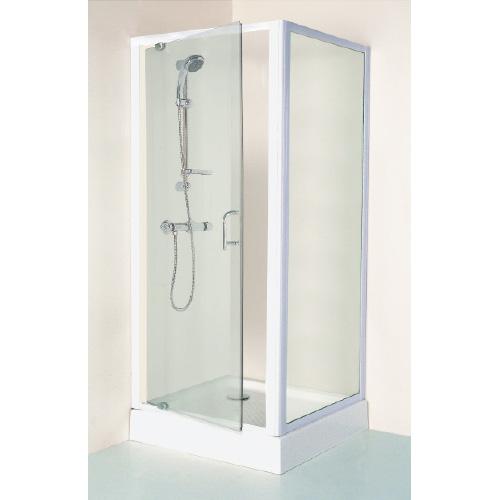 Porte de douche wad80tp 80x185 cm lt aqua - Porte douche pivotant ...