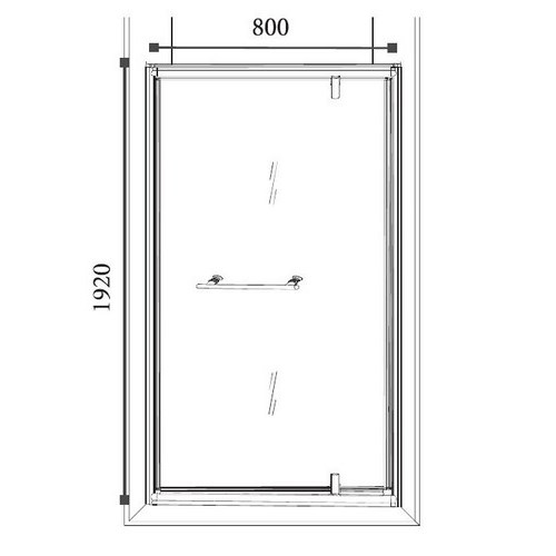 Porte de douche platina fa ade 80 x 192 cm lt aqua - Porte douche pivotant ...