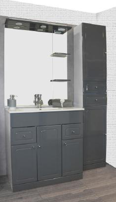 meuble salle de bain tolede gris