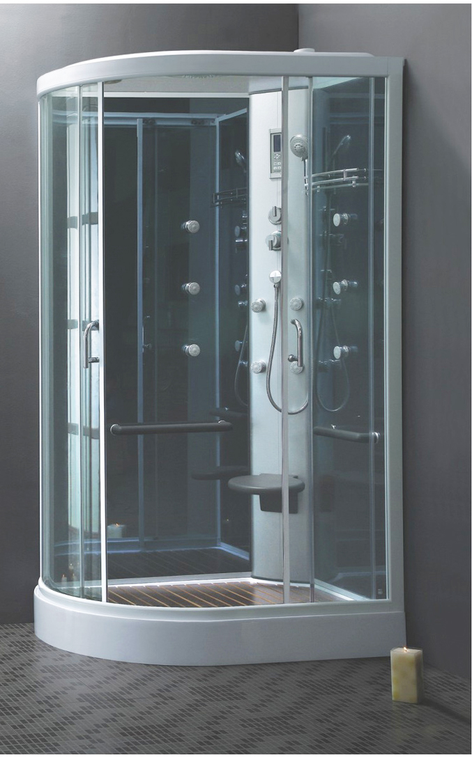 cabine de douche int grale quart de cercle 120 80 hydromassante. Black Bedroom Furniture Sets. Home Design Ideas
