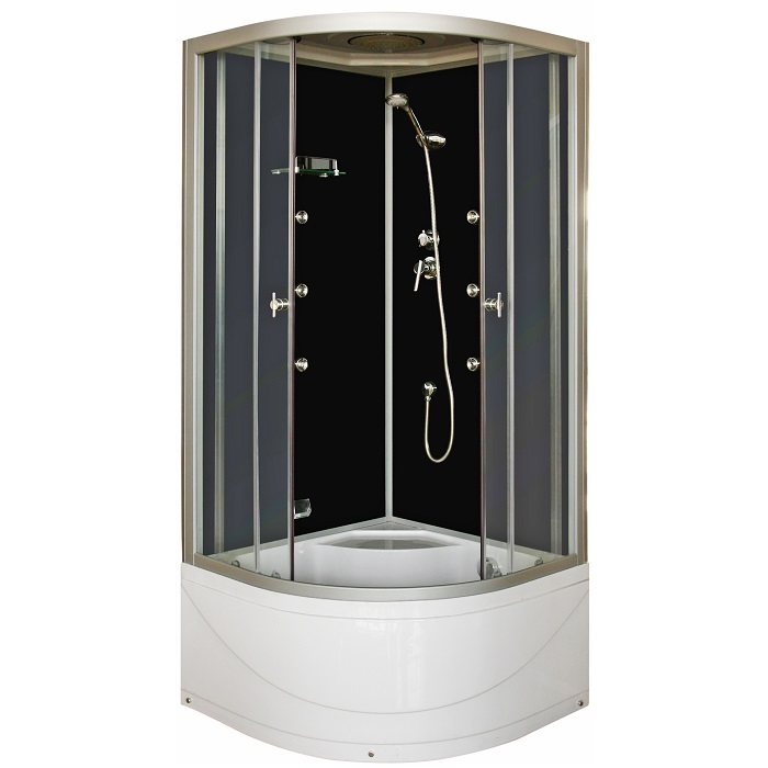 cabine de douche int grale aby 90x90 cm 1 4 de cercle. Black Bedroom Furniture Sets. Home Design Ideas