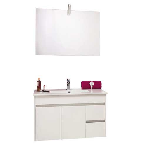 Meuble de salle de bains a suspendre lumpur 80cm sanitaire for Meuble sanitaire