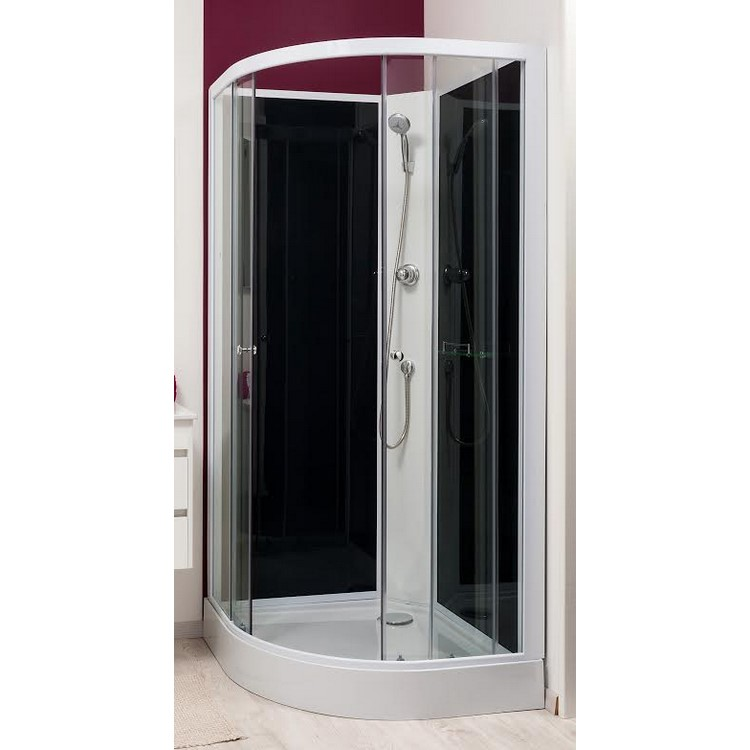 Cabines douches int grale carr rectangle 1 4 de - Cabine de douche a l italienne ...