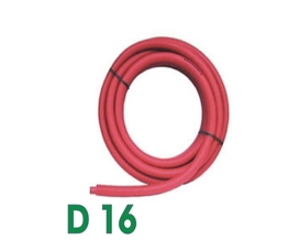 Tube PER gainé Ø 16 mm - 15 m - PEX-A - rouge
