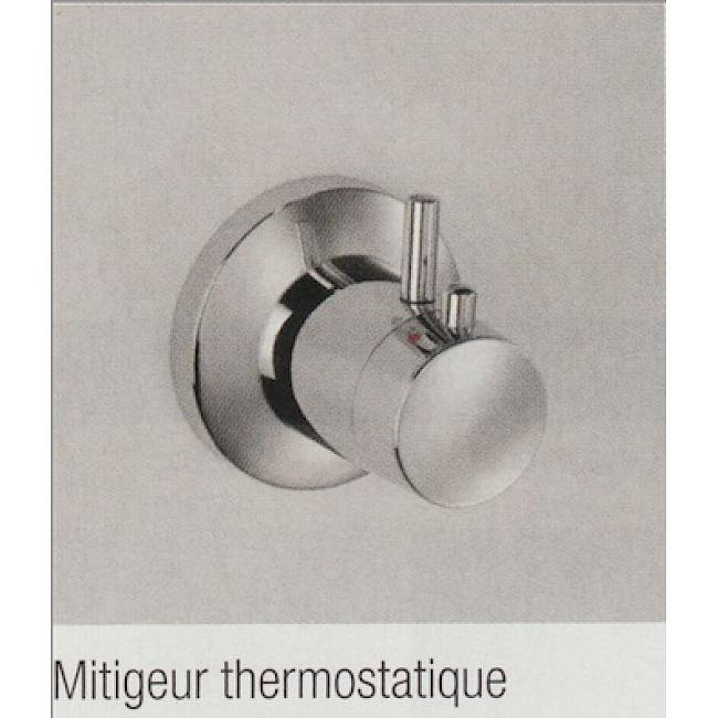 Cabine de douche 80x80 cm - porte pivotante - Media G+F thermostatique