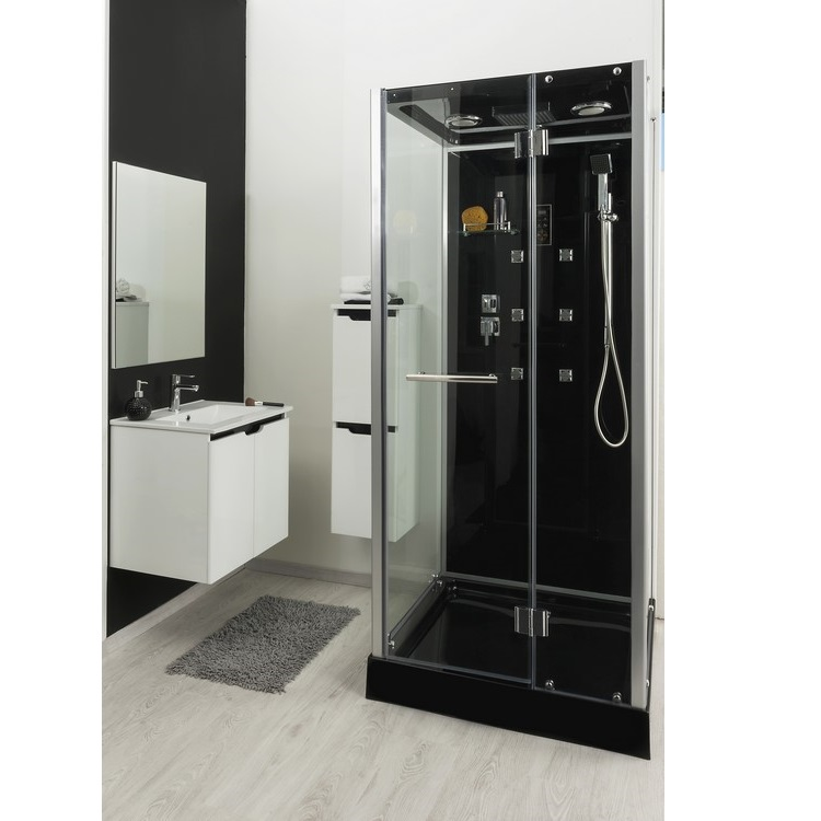 cabine de douche carr e hydromassante apollon. Black Bedroom Furniture Sets. Home Design Ideas