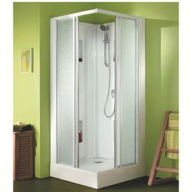 Cabine Izi Box 80x80 cm - portes coulissantes, verre transparent 4mm