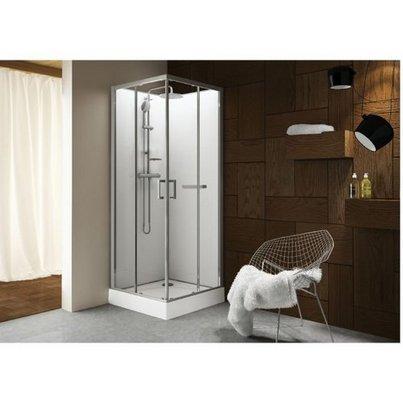 cabine de douche carr e 90x90 kara leda portes coulissantes. Black Bedroom Furniture Sets. Home Design Ideas