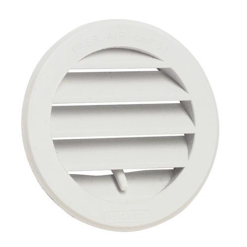 Grille de ventilation ronde avec moustiquaire et volets de for Porte avec grille de ventilation