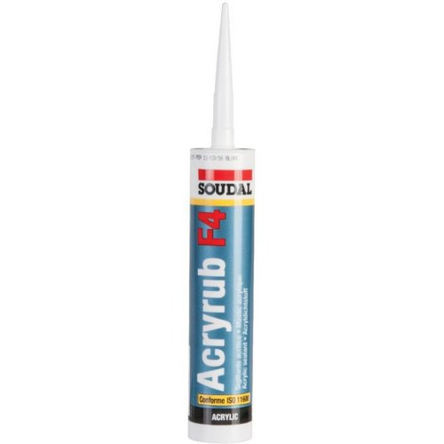 Mastic Acryrub F4 pour garnitures de joints 300ml blanc SOUDAL