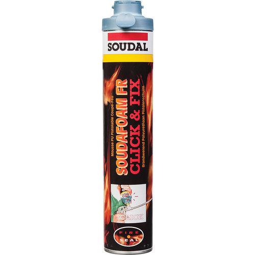 Mousse PU coupe-feu SOUDAFOAM Click&Fix 750ml
