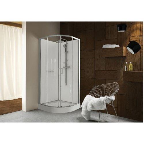 cabine de douche quart de rond 90x90 kara leda portes. Black Bedroom Furniture Sets. Home Design Ideas