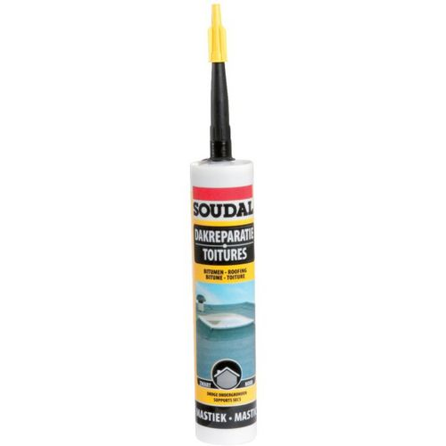 Mastic toitures Colle bitumeuse 310ml SOUDAL