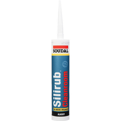Silicone Silirub Cleanroom pour jointoyage 310ml SOUDAL