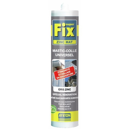 Mastic MS polymère Superfix Zinc Mat Ayrton - 290ml