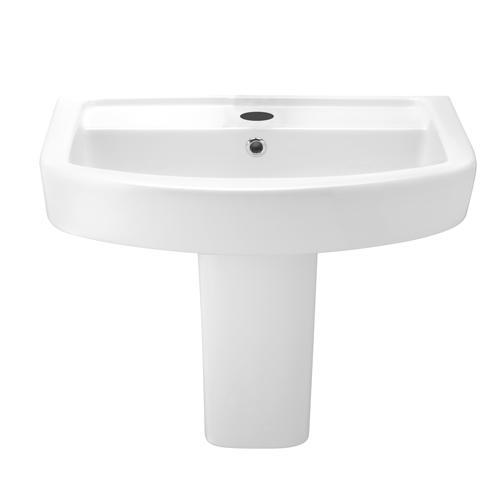lavabo poser sur semi colonne 60x45cm. Black Bedroom Furniture Sets. Home Design Ideas