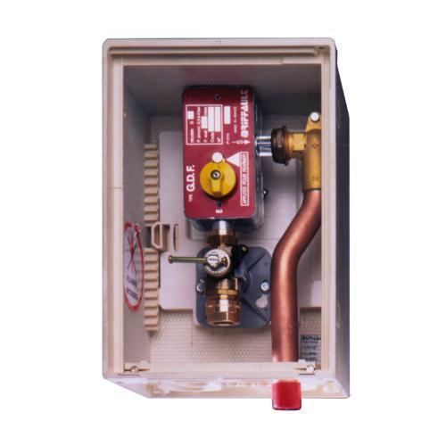 raccordement chauffage gaz naturel compteur gaz coffret d tendeur et robinet d 39 arr t gaz. Black Bedroom Furniture Sets. Home Design Ideas