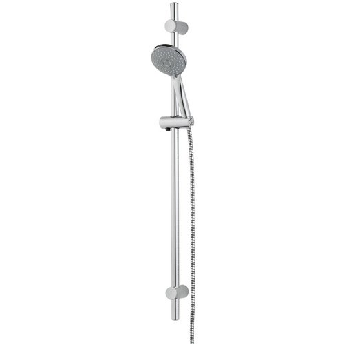Ensemble douche New Life chromé L=700mm, barre Diam25mm, 3 jets
