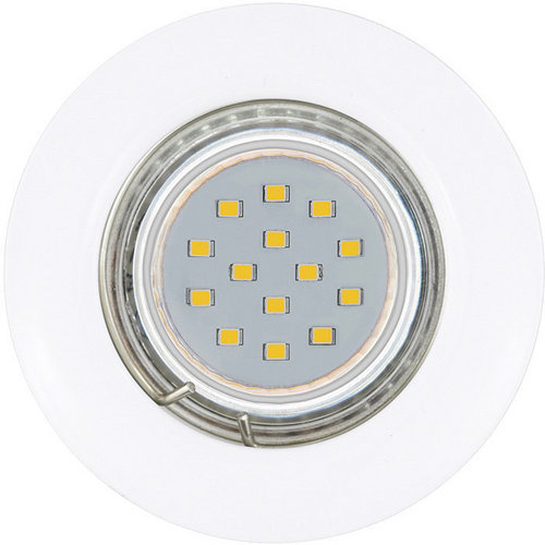 Set de 3 spots encastrables fixes LED Gu10 3W Diam78mm 200 lumen