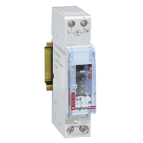 Inter horaire analogique manuel 1 module - Horloge chauffe eau ...