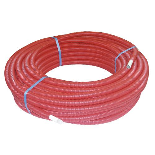 Tube multicouche gainé - Ø 16 mm - 50 m - rouge