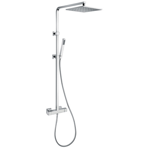 Colonne de douche thermostatique kubick douche de t te carr e r hammel - Ensemble douche thermostatique grohe ...