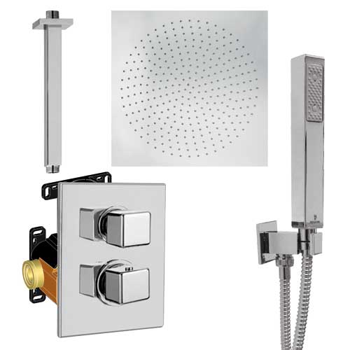 Ensemble douche à encastrer thermostatique Kubick
