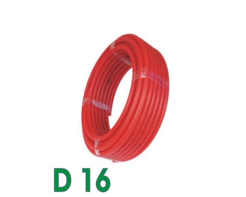 100m Tube PER nu Somatherm rouge DN16