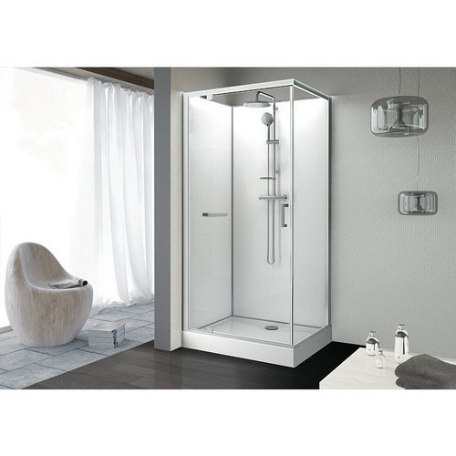 Cabine KARA rectangle porte pivotante - Leda 100x80cm