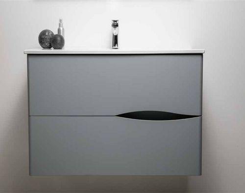 meuble lavabo 2doo gris largeur 70cm suspendre