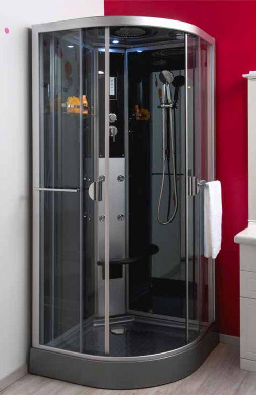 cabine de douche hydromassante ned 1 4 cercle 90 montage. Black Bedroom Furniture Sets. Home Design Ideas