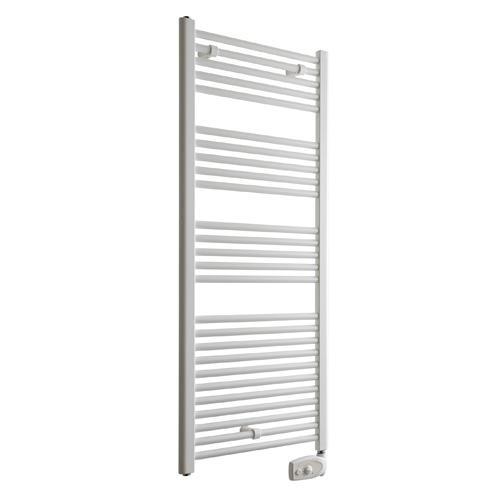 Radiateur s che serviettes blanc primo en acier 750w - Radiateur salle de bain seche serviette ...