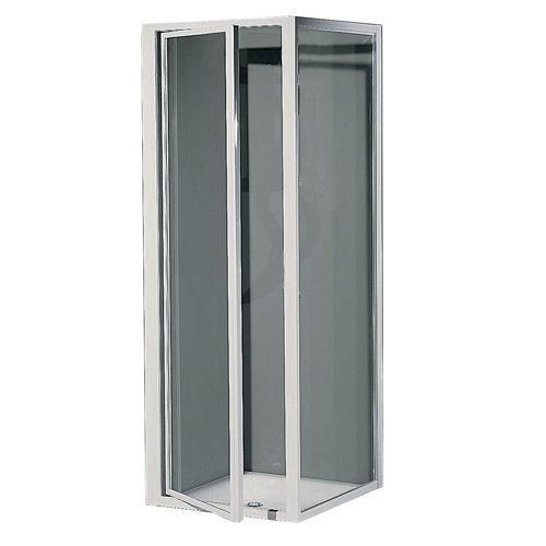 Porte de douche pivot et panneau fixe for Porte de douche fixe